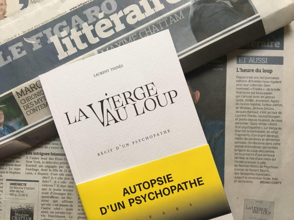 """Article """"L'heure du loup"""" du Figaro Littéraire (21/11/19)"""